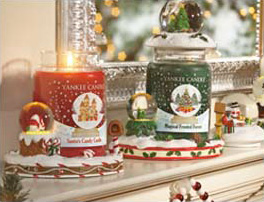 Yankee Candle snow globe candles